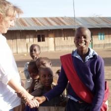Susan Hughes in Kenya