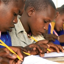 Kenyan children in school
