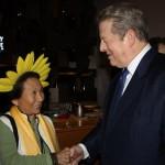 Sunflower Priestess meets Al Gore