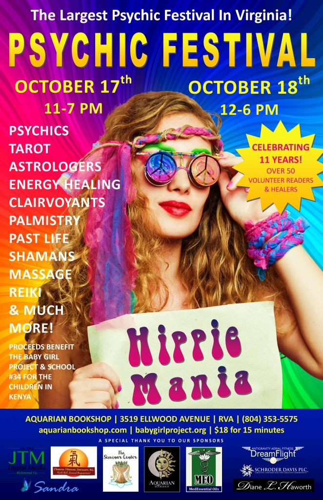 Hippie Mania Poster October 2015 11x17